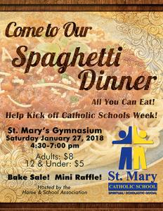 Spaghetti Dinner @ St. Mary Gym